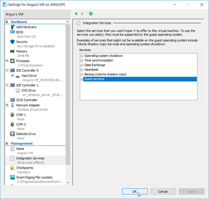 041118 0000 HyperVSetti4 - Hyper-V Setting Up the Virtual Machine and Also other stuff Pt.2 #VirtualMachines #Microsoft