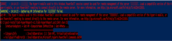 012120 1907 Troubleshoo1 - Troubleshooting Tips – Fixed Windows Server 2019 cannot run Hyper-V cmdlets against Windows Server 2012 R2 #PowerShell #Hyper-V #Server 2019 #Reports #Mvphour