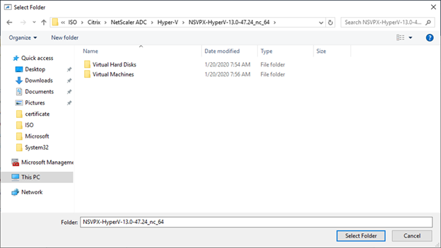 022720 0133 HowtoInstal13 - How to Install Citrix ADC (NetScaler ADC) VPX 13.0 at Microsoft Windows Server 2019 with Hyper-V #Citrix #NetScaler #ADC #VPX #Microsoft #Hyper-V #Windows Server 2019 #mvphour