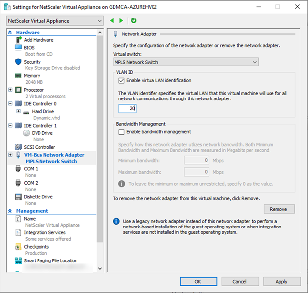 022720 0133 HowtoInstal23 - How to Install Citrix ADC (NetScaler ADC) VPX 13.0 at Microsoft Windows Server 2019 with Hyper-V #Citrix #NetScaler #ADC #VPX #Microsoft #Hyper-V #Windows Server 2019 #mvphour